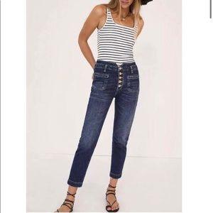 Anthropologie Pilcro High Rise Utility Slim Jeans
